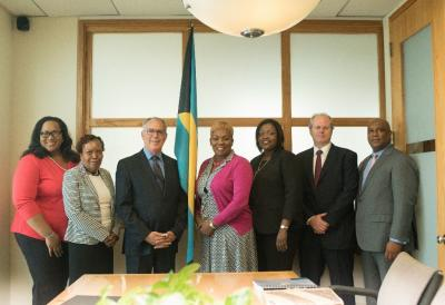 Financial Services Representatives Pay Courtesy Call On Minister Of Financial Services